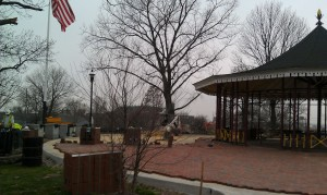 Park work being done in the spring of 2012.