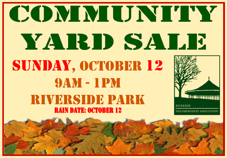 yard sale oct 12