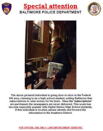 Special Attention-Newspaper Scam-Nov2014