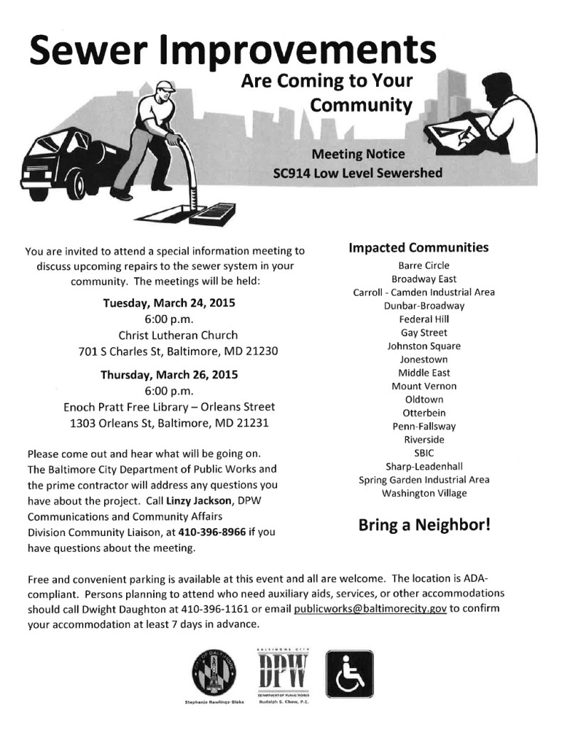 Sewer Improvements Flyer