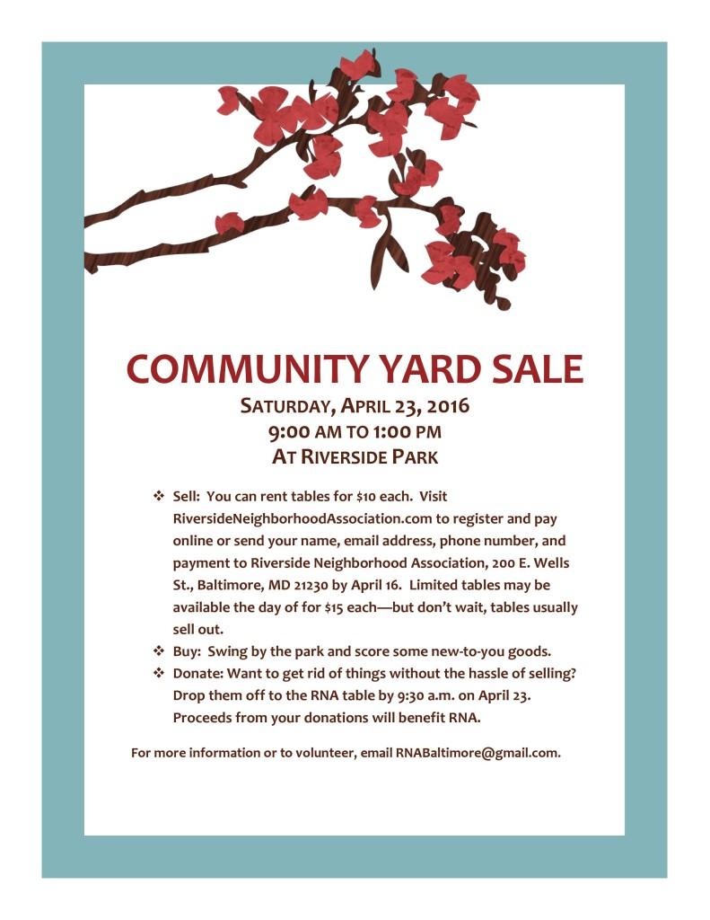 Community Yard Sale Flyer